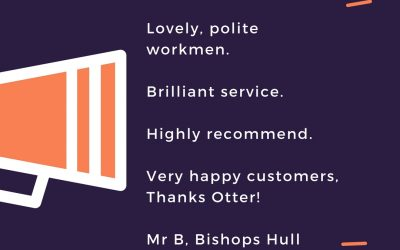 Friday Feedback – Plumber – Taunton – Somerset